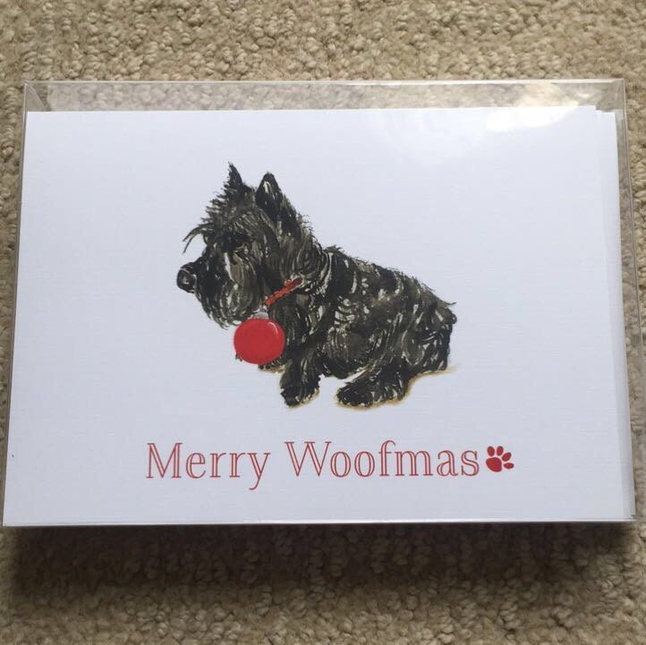 GREETING CARDS©, scottie christmas card, pug christmas card ...