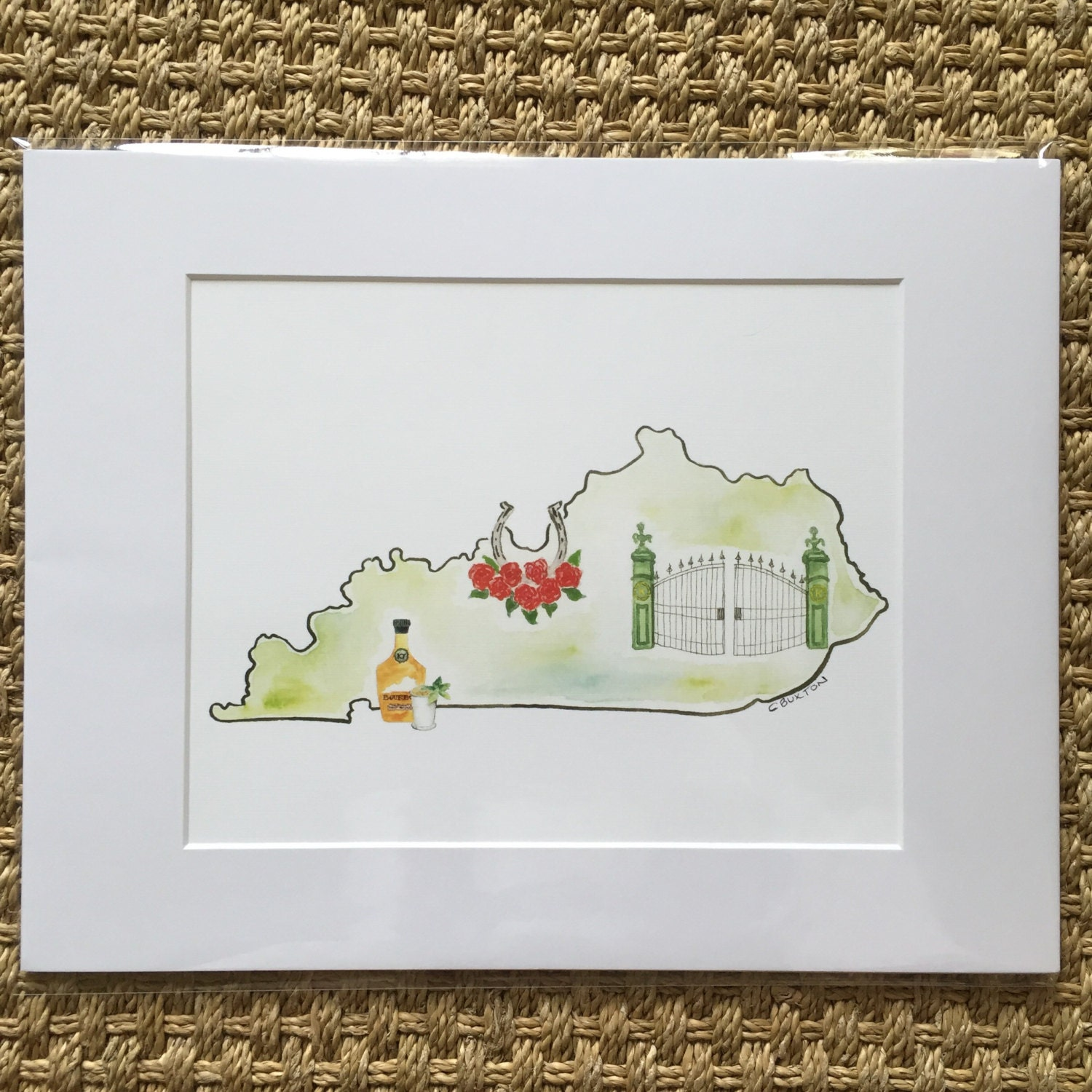 Kentucky Print, Prints matted and ready to be framed in a standard ...