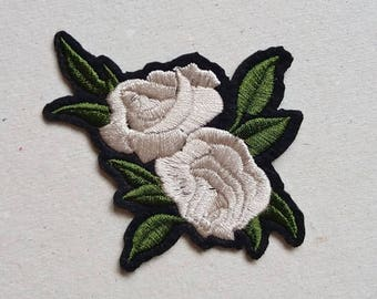 Rose patches, patch iron on, floral patches, iron on applique, jacket patch, diy iron on, rose embroidery, rose applique, applique design