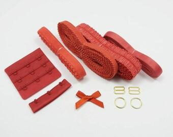 Bra making, findings kit, bramaking notions, bra elastics, bra findings kit, diy bramaking, stretch elastic, bra elastic, lingerie elastic