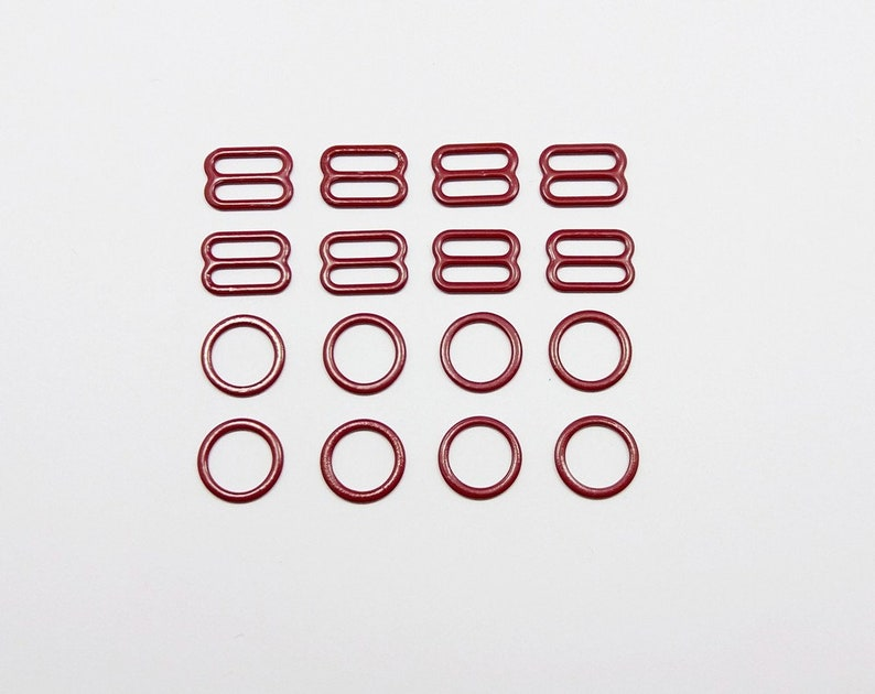 c7e3a796ccb4d 4 sets nylon coated metal rings and sliders bra making