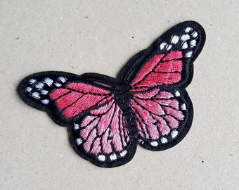 Butterfly patch, iron on patch, sew on patch, clothing applique, kids appliques, patches for jackets, cute patches, diy patch, girls patch
