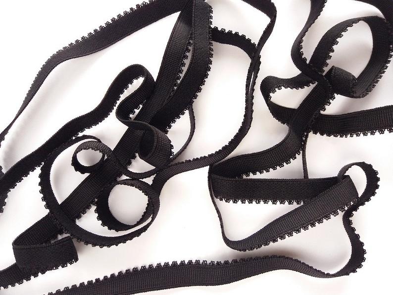 wide Plush back elastic with crown edge underwear sewing elastic 12 in bra lingerie headband making supply 12 mm