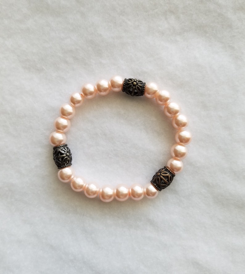 Soft Pink Beaded Bracelet