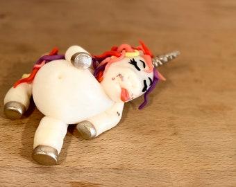 Clay Unicorn // Custom Clay Figurine // Cake Topper // Ornament