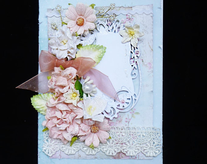 Shabby Chic Style Card, Vintage Card, Birthday Card, Any Occasion Card, Special Occasion Card, Card For Mum, Card For Sister