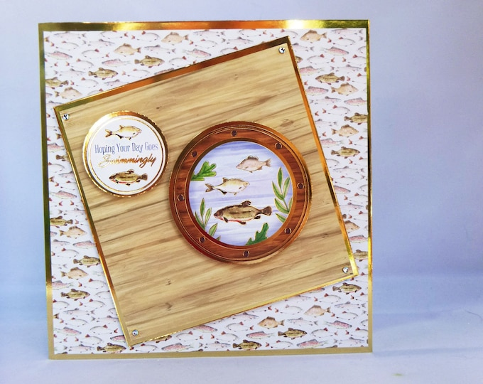 Fishing Card, Handmade Card, Male Fishing Card, Special Birthday Card, Especially For You, Special Catch, Gone Fishing, Your A Reel Catch