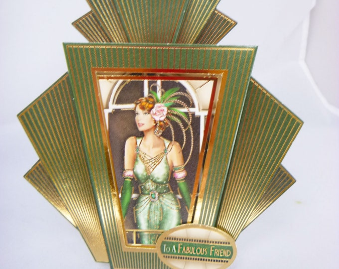 Art Deco  Card, 1920's Style Card, Birthday Card, To A Fabulous Friend, Birthday Wishes, Special Birthday, Special Day, Card And Book Mark
