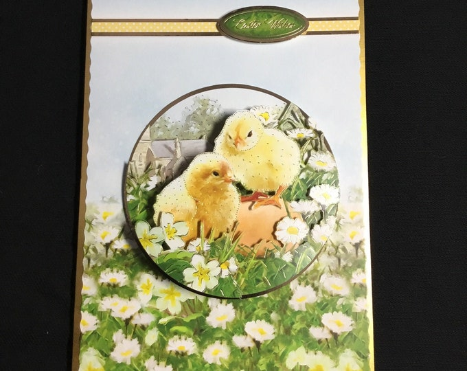 Easter Wishes, 3D Decoupage Card, Easter Greetings, Celebrate Easter, Easter Blessings, Easter Fun, Handmade In The UK