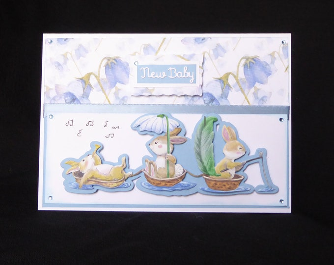 New Baby Card, New Arrival Card, Its A Boy, Especially For You, New Baby Decoupage Card, Birth Greetings, Congratulations, Handcrafted