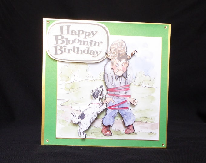 Animal Trouble, Dog Walking, Happy Bloomin' Birthday, Especially For You, Special Birthday, Special Day, Birthday Greetings, 3 D Decoupage