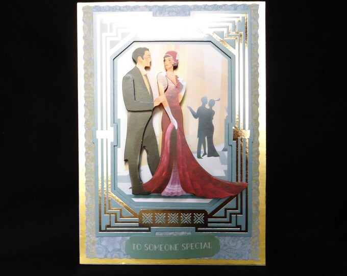 Art Deco 3 D Decoupage Card, 1920's Style Card, Special Birthday Card, Someone Special, Happy Birthday, Especially For You Card