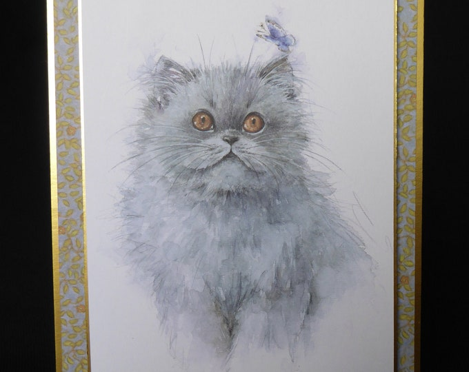 Cat Card, Blue Persian Cat, Especially For You, Special Birthday, Special Day, Celebrate Your Day, Any Occasion, Handmade In The UK