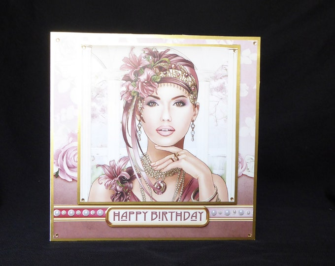 Art Deco Card, Happy Birthday, Especially For You, Special Day Card, Special Birthday, Birthday Greetings, Handmade In The UK,