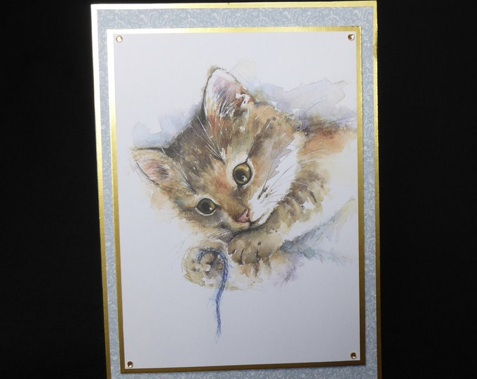 Cat Card, British Shorthair Cat, Especially For You, Special Birthday, Special Day, Celebrate Your Day, Any Occasion, Handmade In The UK
