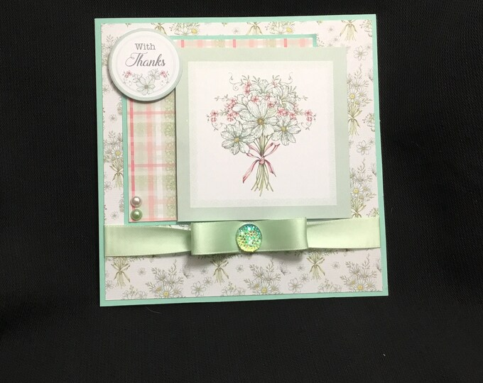 Floral Thank You Card, With Thanks, Especially For You, Special Person Card, Special Day Card, Any Occasion Card, Handmade In The UK