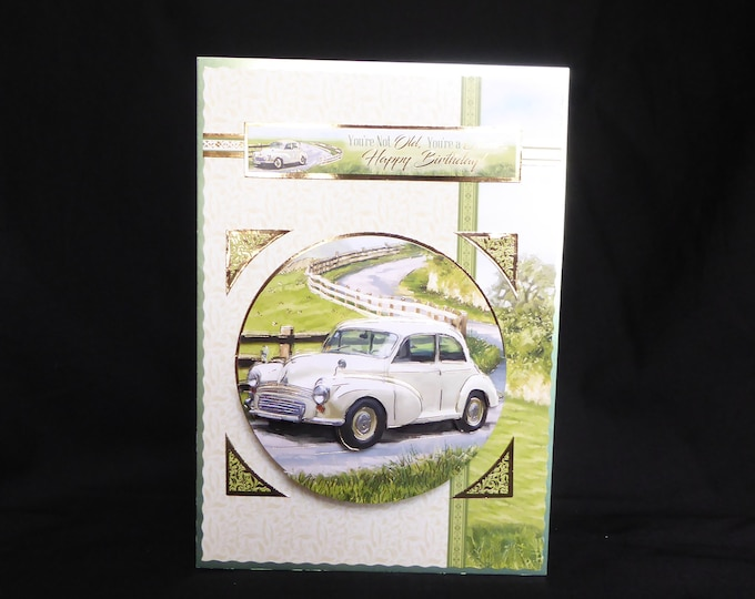 Classic Car Card, 3D Decoupage Card, Birthday Card, Especially For You, Special Birthday, Special Day Card, Handmade In The UK