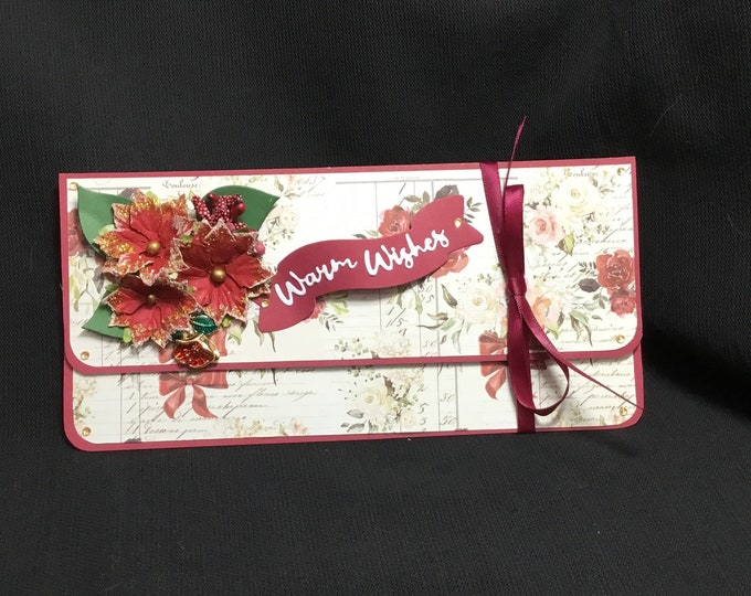 Money Gift Card/ Voucher Wallet, Christmas Gift, Especially For You, Special Day Gift, Seasonal Greetings, Handmade In The UK