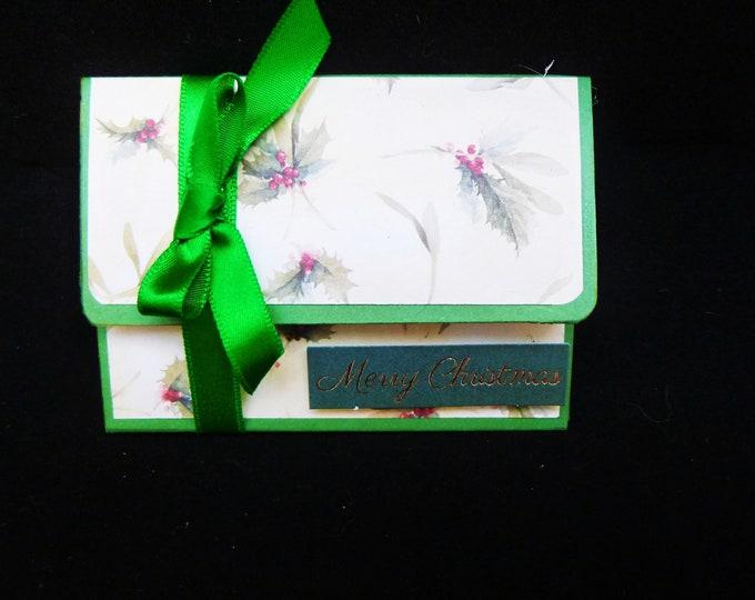 Gift Card Wallet, Gift Voucher Wallet, Stocking Filler, Stocking Stuffer, Christmas Gift Card Envelope