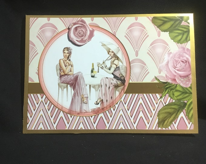 Art Deco Card, Popup Card, Decoupage Card, Especially For You, Special Day Card, Celebrate In Style, Celebrate Your Day, Handmade In The UK