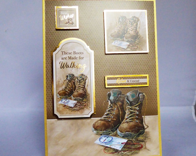 Walking Boots, Best Wishes, Outdoor Card, Walking and Hiking, Special Birthday, Especially For You, Handmade In The UK