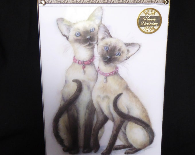 Siamese Cats, Animal Card, Cat Lover, Birthday Wishes, Happy Birthday, Especially For You, Special Day Card, Handcrafted Card