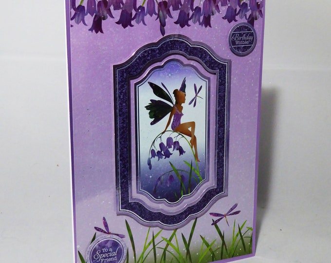 Fairy Card, Birthday Wishes, To A Special Friend, Special Day Card, Celebration Card, Special Birthday, Handmade In The UK
