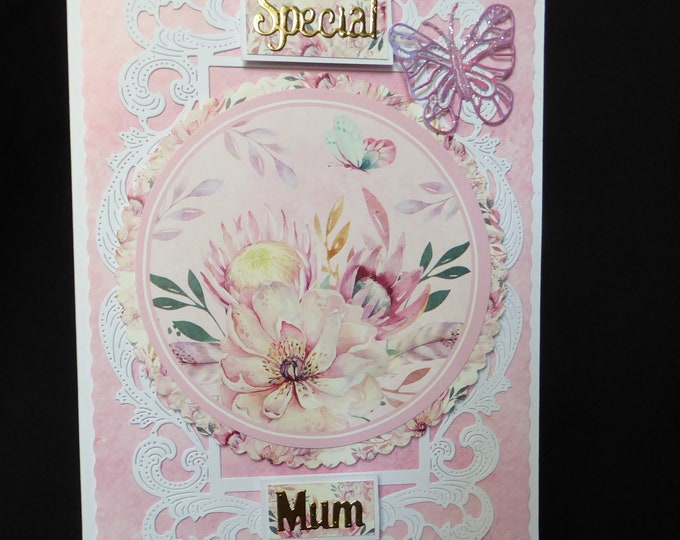 Mothers Day Card, Birthday Card, Special Mum Card, Especially For You, Specail Day, Celebrate In Style, Handmade In The UK