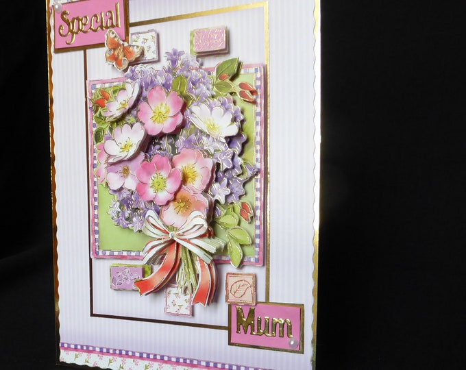Floral 3D Decoupage Card, Special Birthday, Special Mum, Mothers Day Card, Especially For You, Special Day, Handmade In The UK