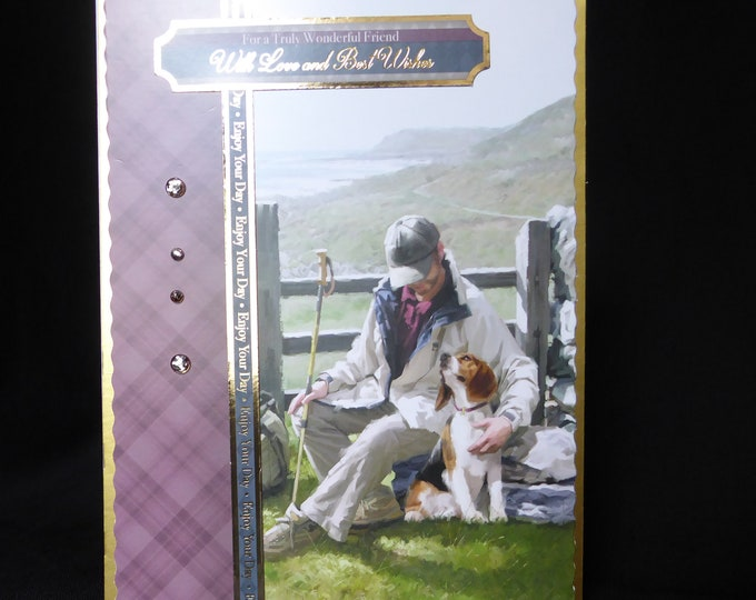 Countryside Walk, Man And His Dog, Scenic Card, Best Wishes, Wonderful Friend, Especially For You, Special Birthday, Special Day, Handmade
