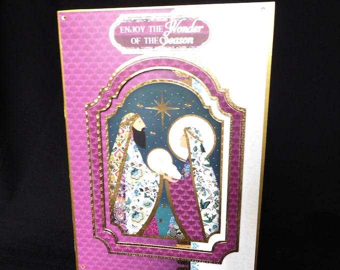 Traditional Christmas Card, Nativity Scene, Seasonal Greetings, Festive Time, Christmas Greetings, Celebrate Christmas, Handmade In The UK