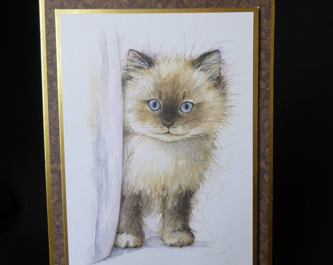 Cat Card, Birman Cat, Especially For You, Special Birthday, Special Day, Celebrate Your Day, Any Occasion, Handmade In The UK