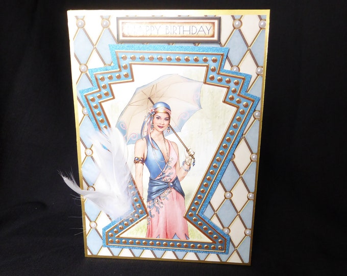 Art Deco Card, Especially For You, 1920's Style Birthday Card, Special Day Card, Special Birthday, Birthday Greetings, Handmade