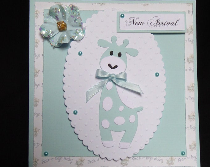 Its A Boy Card, New Baby Boy, New Arrival, Just Arrived, Baby Boy, Just For You, Special Delivery, Handmade In The UK