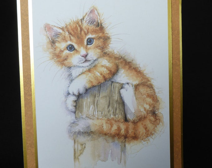 Cat Card, Ginger Tabby Cat, Especially For You, Special Birthday, Special Day, Celebrate Your Day, Any Occasion, Handmade In The UK