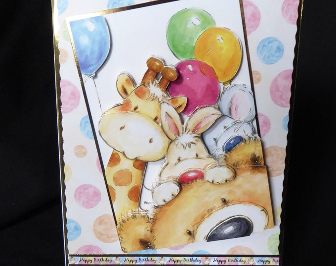 3D Decoupage Card, Special Birthday, Special Day Card, Especially For You, Personalise with Name or Number, Hanmade In The Uk,