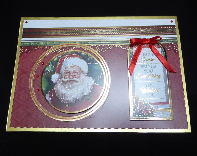 Traditional Christmas Card, Santa Card, Especially For You, Christmas Greetings, Festive Fun, Celebration Time, Festive Time, Handmade