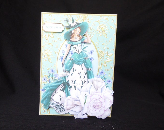 Elegant Lady, Just For You, Especially for You, Celebrate Your Day, Special Day Card, Special Greetings, Celebrate In Style, 3 D Decoupage