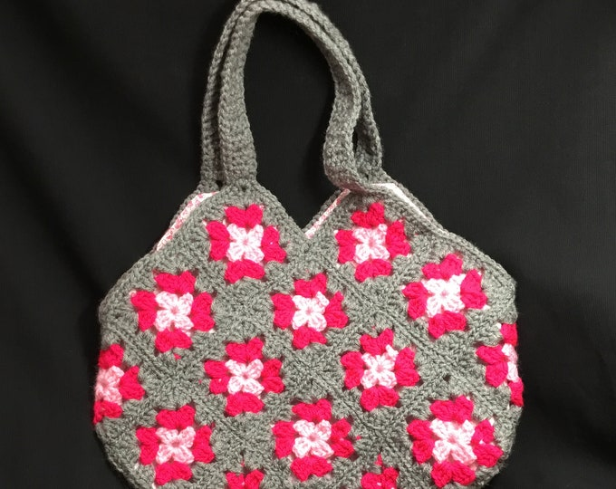 Granny Square Crocheted Bag, Handmade In The UK, Special Gift, Beach Bag, Holiday Bag,