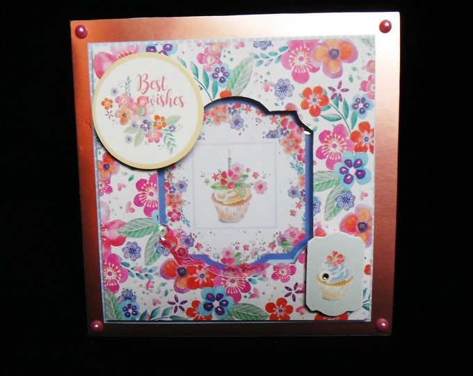 Female Floral Shaker Card, Birthday Card, Especially For You Card, Special Day Card, Floral Card, Celebrate Your Day, Handmade In The UK