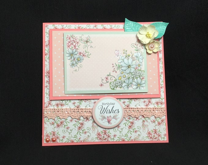 Floral Card, Especially For You, Special Birthday, Special Day, Birthday Wishes, Handmade In The UK