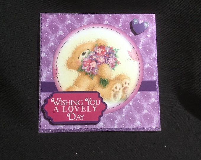 Popup Card, Special Day Card, Especially For You, Birthday Wishes, Special Occasion, Decoupage, Handmade In The UK