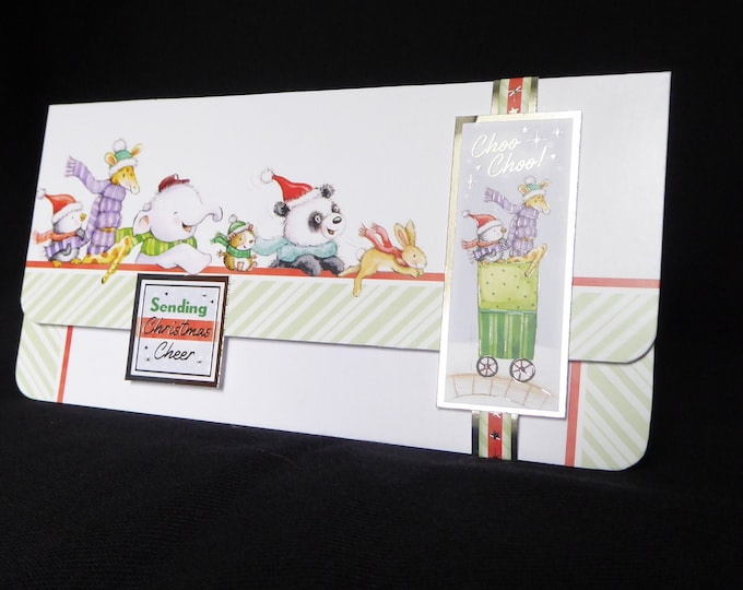 A Money / Gift Wallet Card, Christmas Gift Wallet, Christmas Voucher Wallet, Special Gift, Children's Gift Wallet, Handmade In The UK