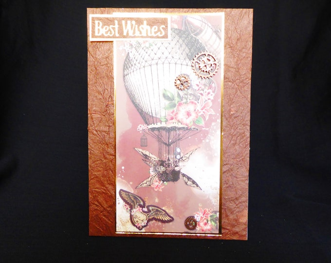 Steampunk Card, Best Wishes Card, Special Card, Special Birthday Card, Vintage Card, Handmade In The UK, Personalised