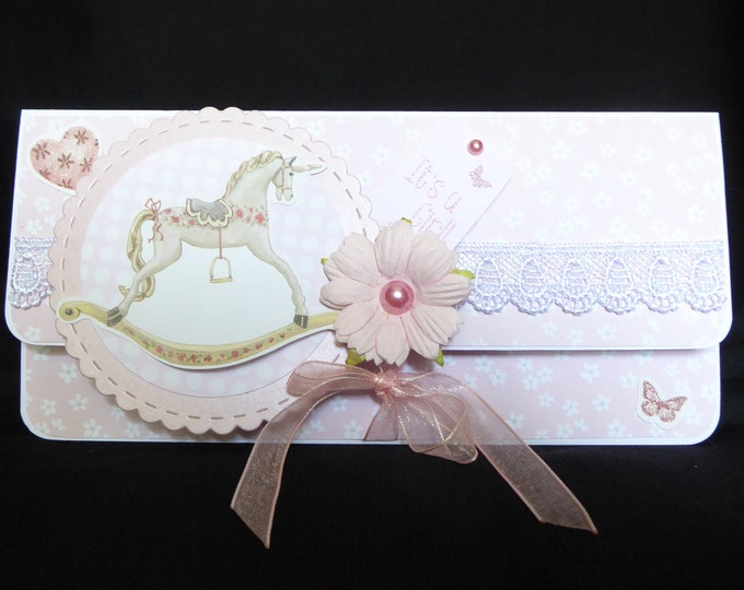 A Money/ Gift Wallet Card, New Baby Gift Wallet, New Arrival Gift Wallet, Baby Shower Gift Wallet, Voucher Wallet