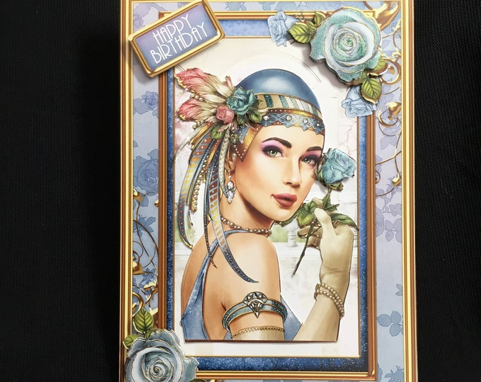 Art Deco Card, Enjoy Your Day, 1920's Style Birthday Card, Special Day Card, Special Birthday, Birthday  Wishes, Especially For You