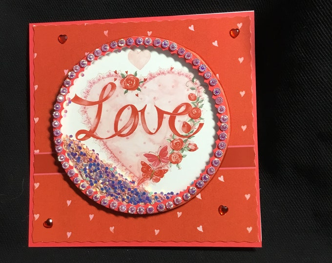 Shaker Popup Card, Anniversary Card, Wedding Card, Especially For You, Special Day Card, Celebration Card, Handmade In The UK
