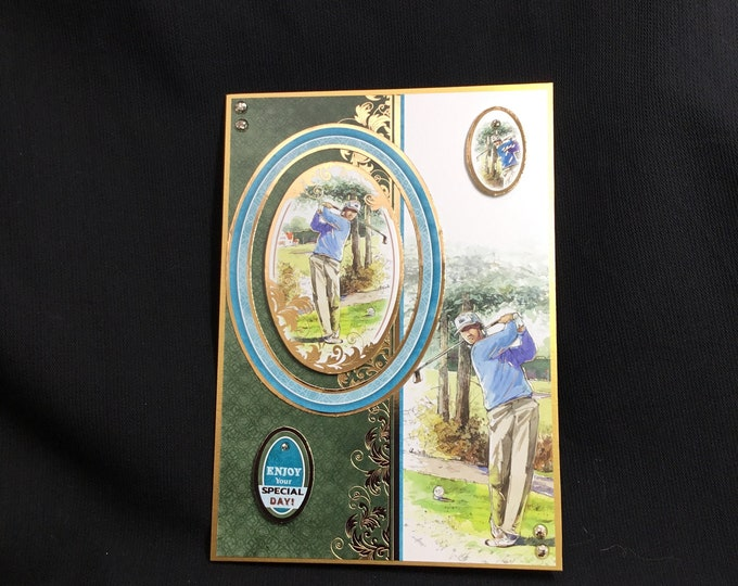 Fathers Day Card, Birthday Card, Golfing Card, Especially For You, Special Day Card, Special Dad, Special Father, Handmade In The UK