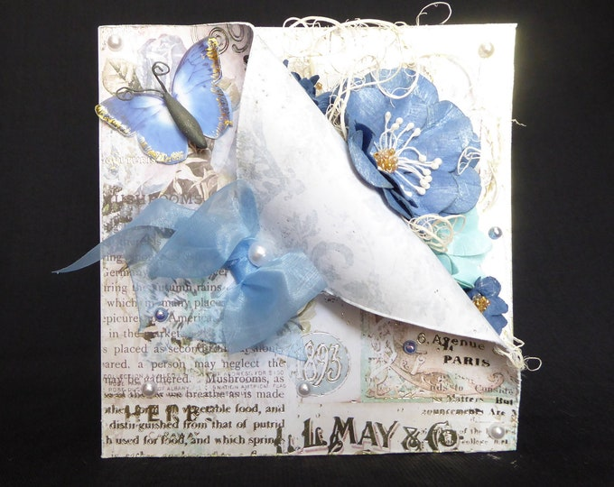 Shabby Chic Syle Card, Wedding Card, Anniversay Card, Birthday Card, Special Occasion Card, Especially For You, Handmade In The UK