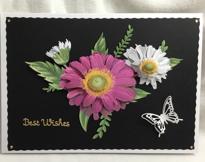 3D Decoupage Card, Daisy Card, Flower Card, Special Day Card, Especially For You, Best Wishes, Special Birthday, Special Greetings, Handmade